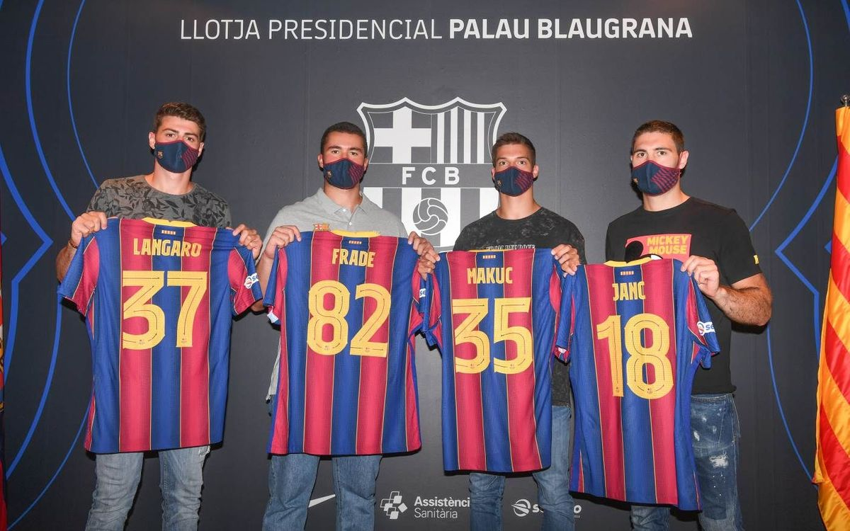 Presentados los fichajes del Barça 20/21