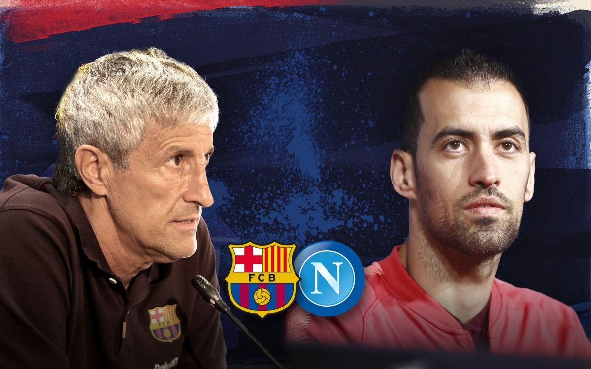 LIVE: Quique Setién and Sergio Busquets press conference