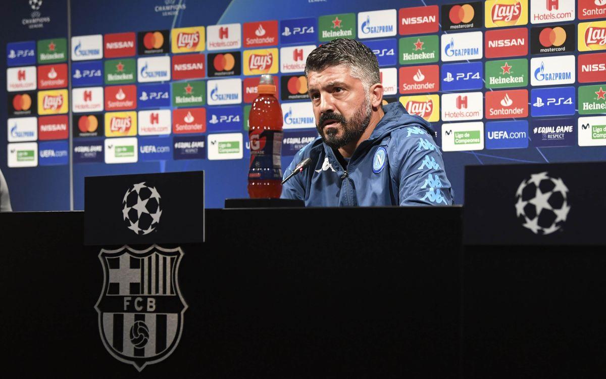 """Gattuso: """"Es un espectáculo ver jugar a los jóvenes del Barça"""""""