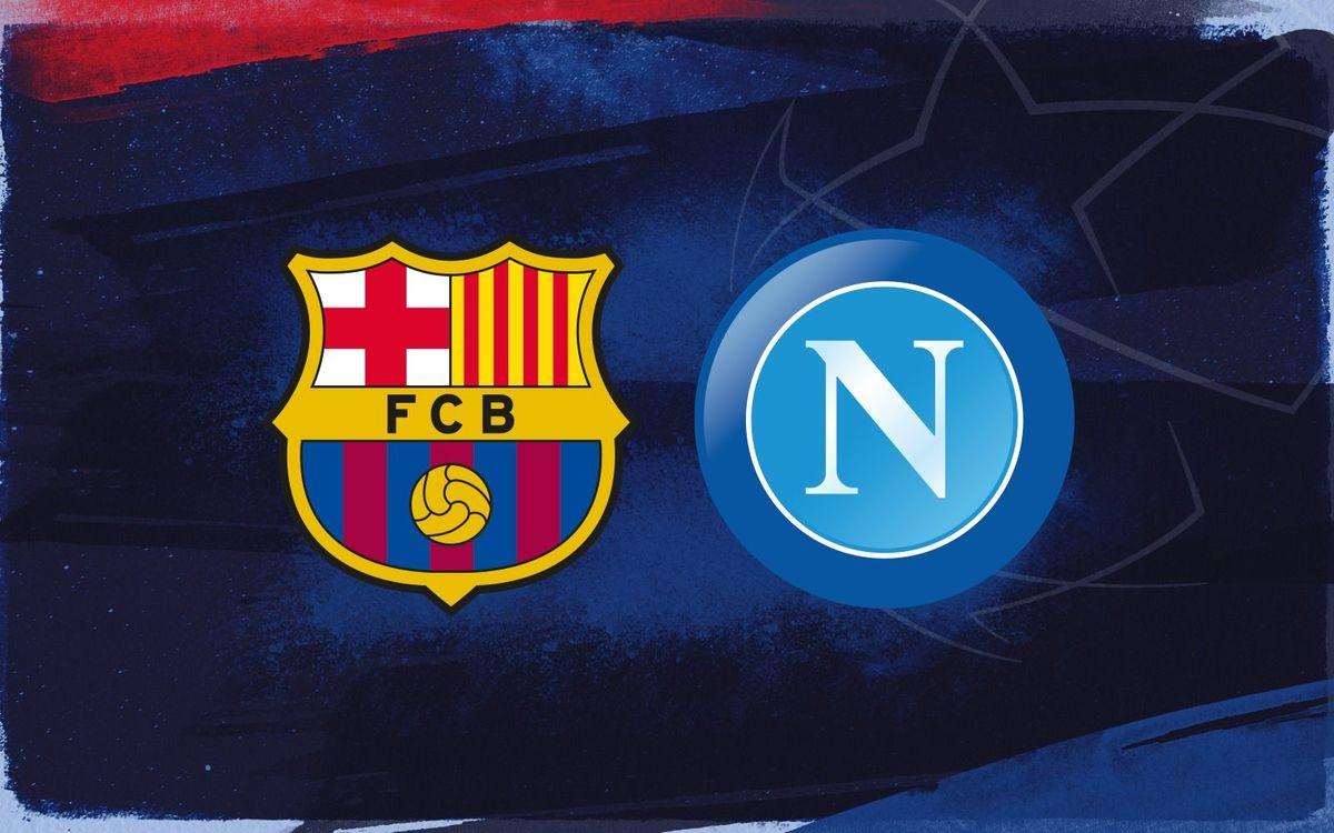 Starting line up for FC Barcelona v Napoli