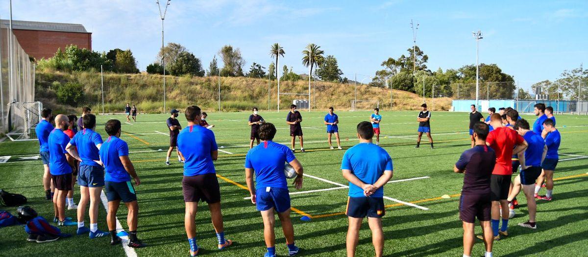 El Barça Rugby torna als entrenaments cinc mesos després