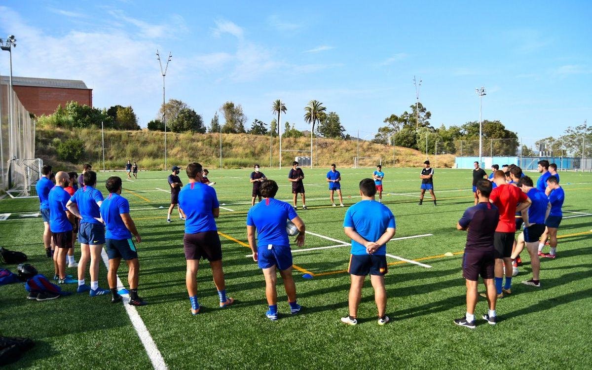 El Barça Rugby vuelve a los entrenamientos cinco meses después