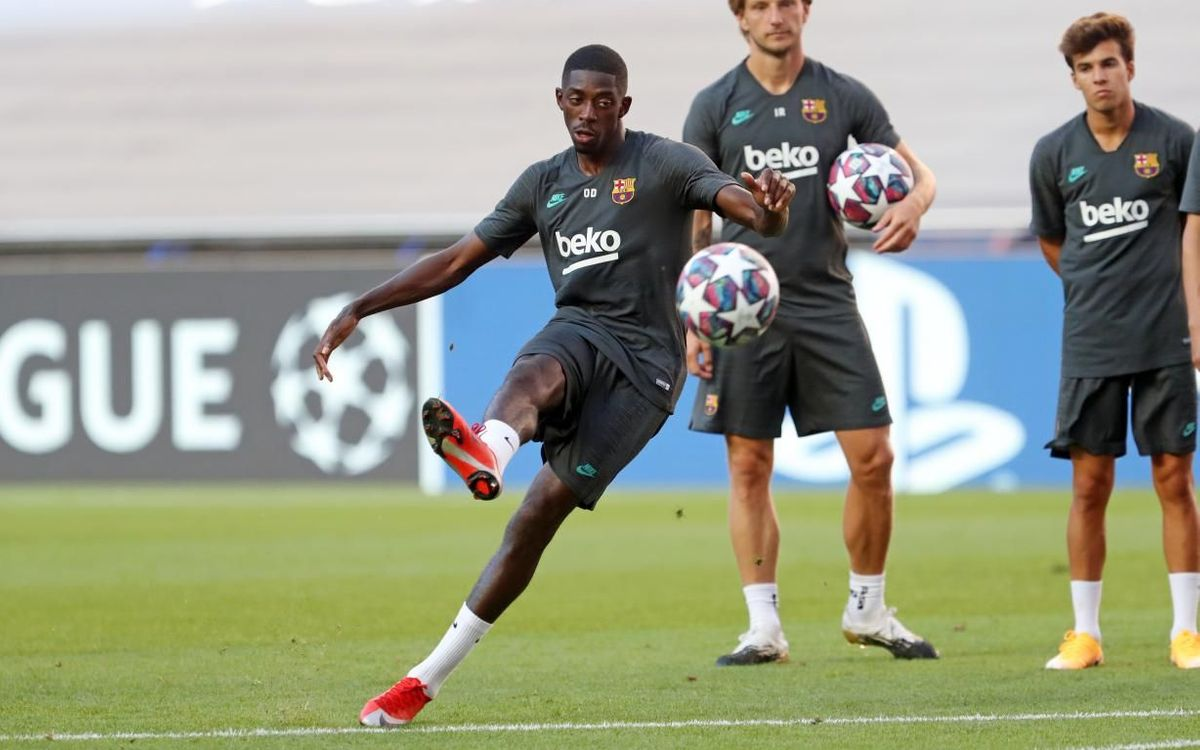 Training in Lisbon and Dembélé gets the all clear