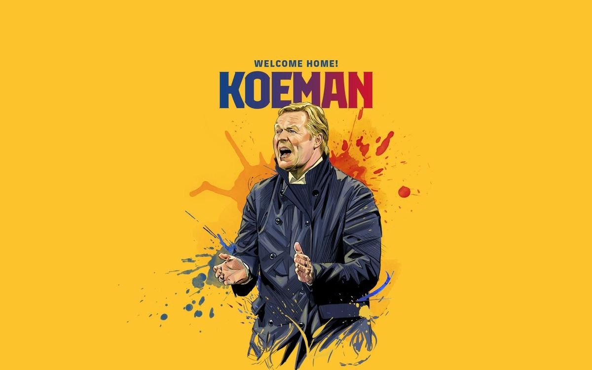 Ronald Koeman is the new FC Barcelona coach