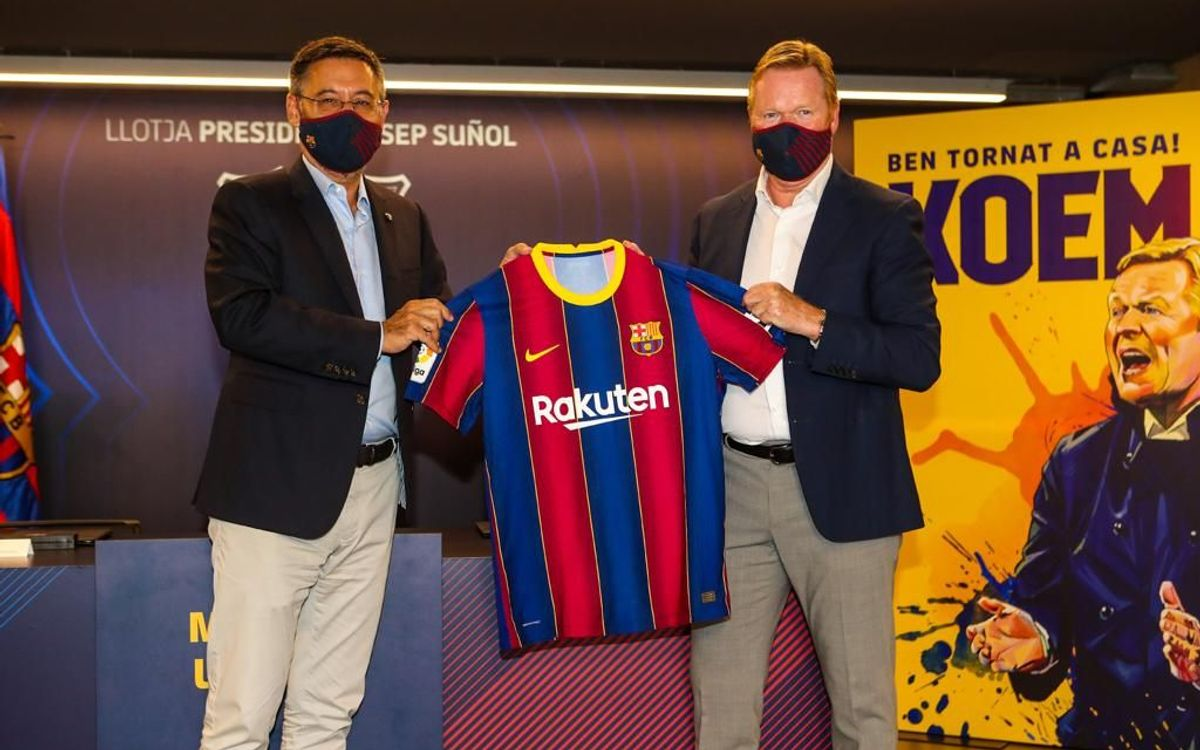 Koeman présenté en tant que nouvel entraîneur du Barça