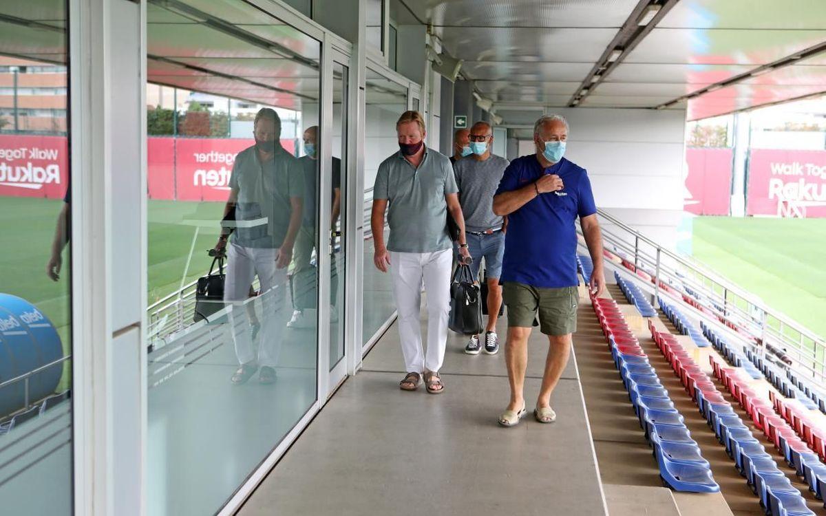Koeman visits the Ciutat Esportiva