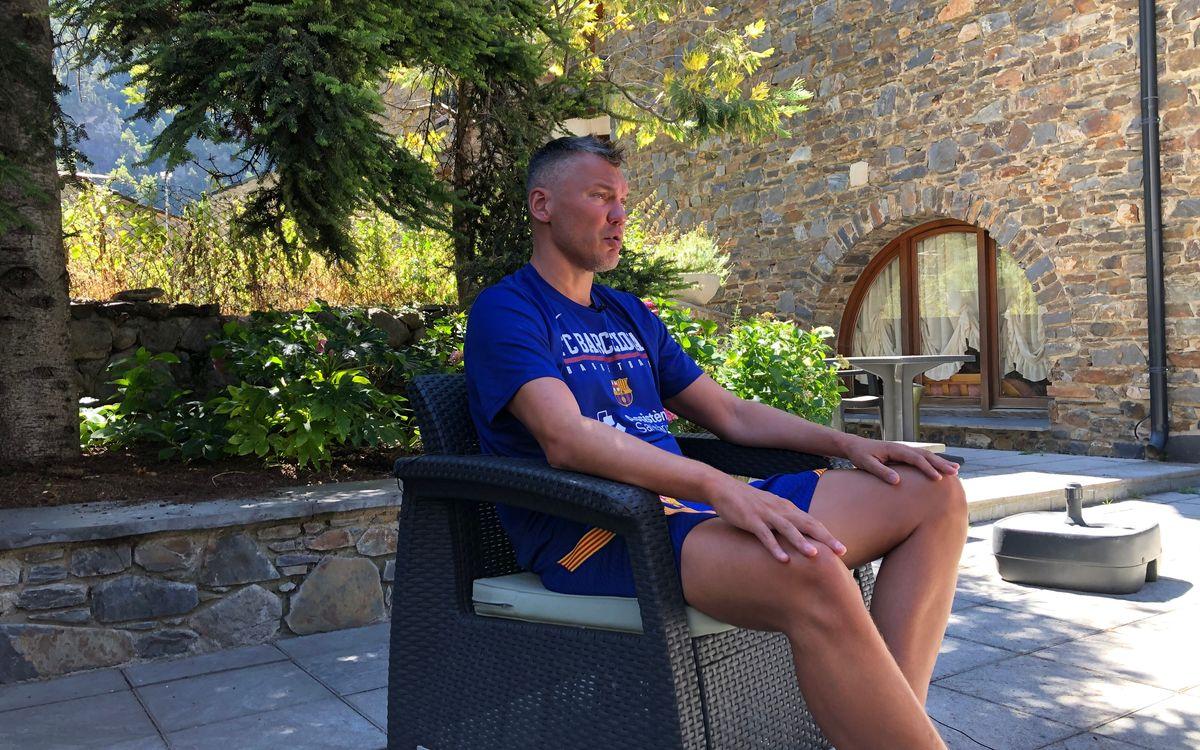 """Saras Jasikevicius: """"Es el momento de sentar las bases de la temporada"""""""