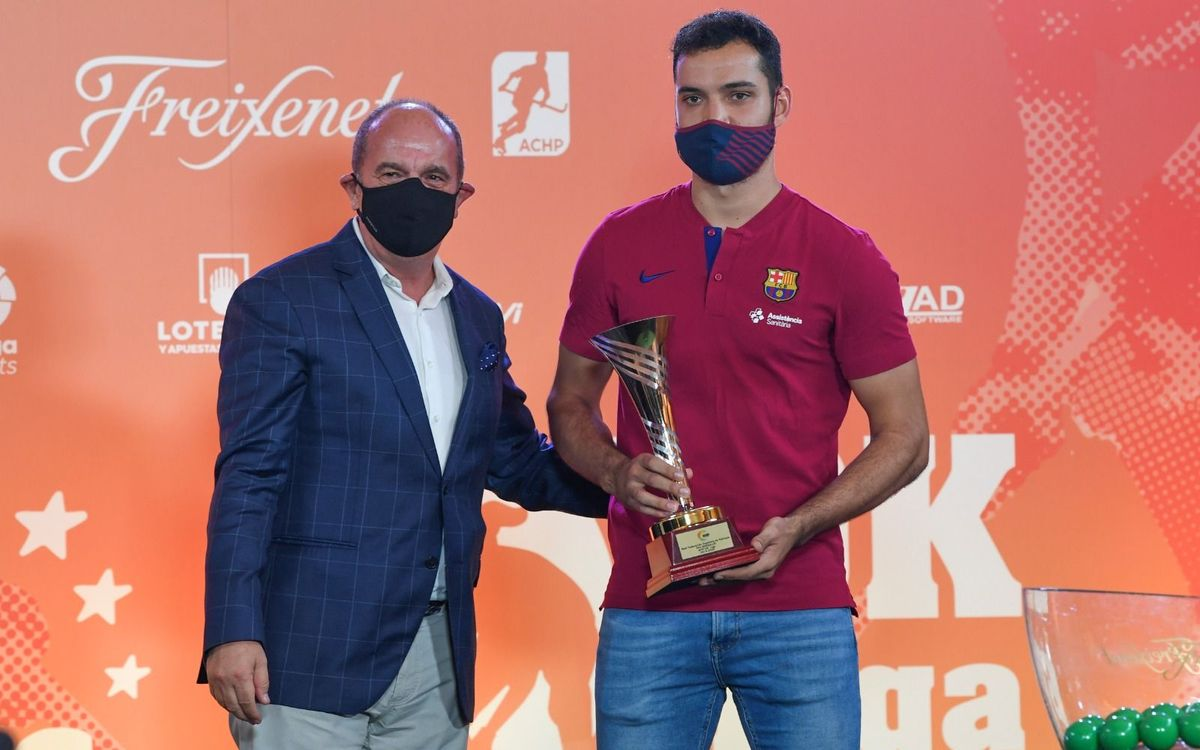¡Pau Bargalló recibe su tercer trofeo MVP!