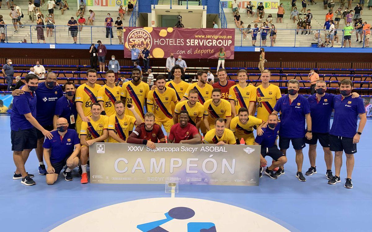 BM Benidorm - Barça: ¡La Supercopa es culer! (18-38)