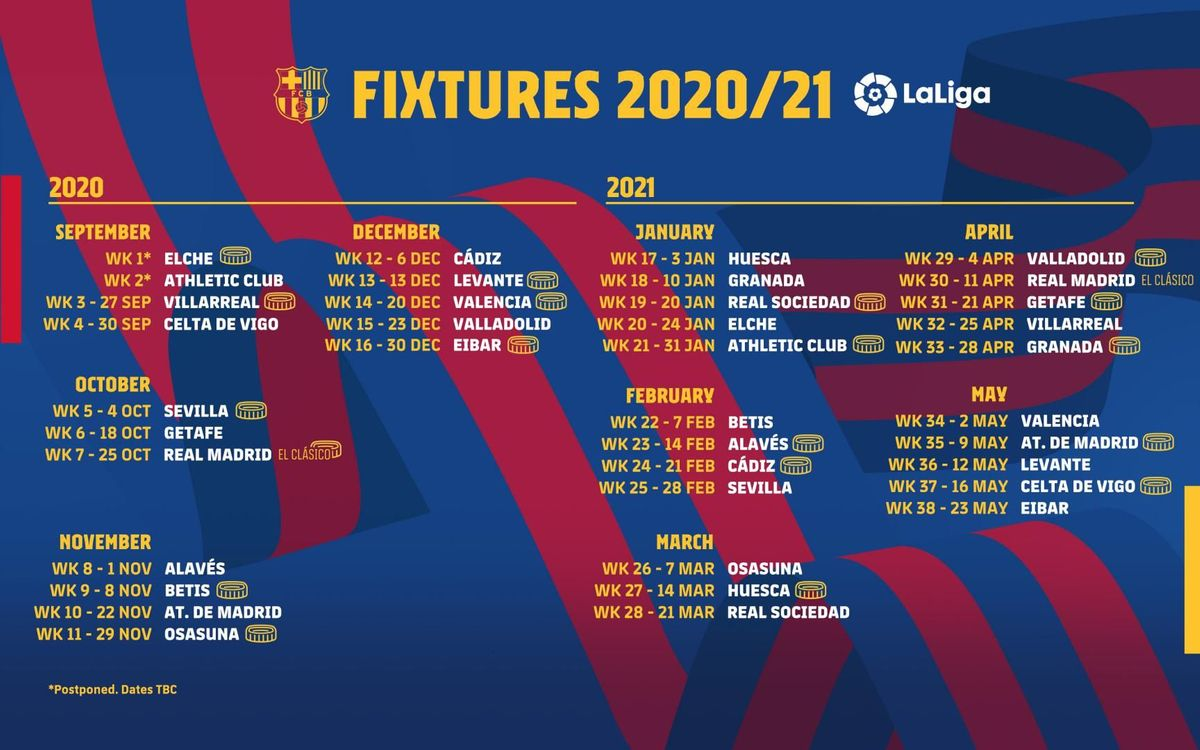 Barça to open LaLiga 2020/21 against Villarreal
