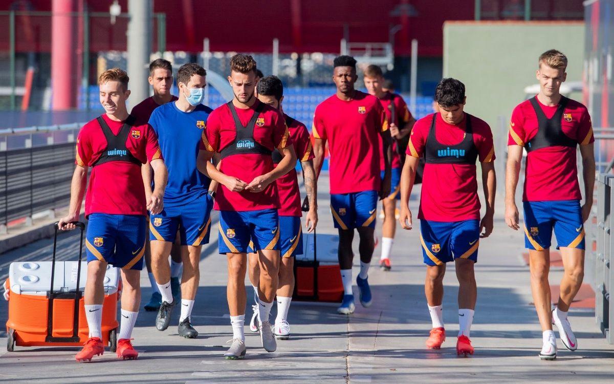 Primer entrenamiento de la temporada 2020/21