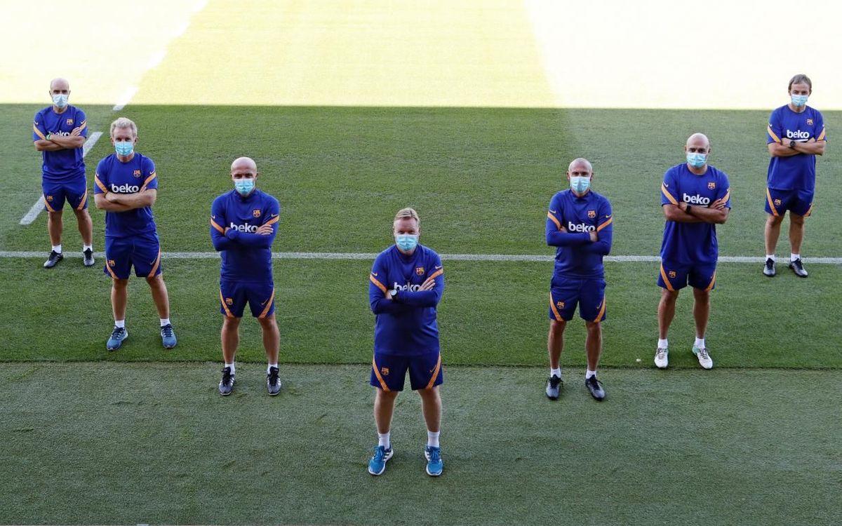 Staff técnico del Barça 2020/21.