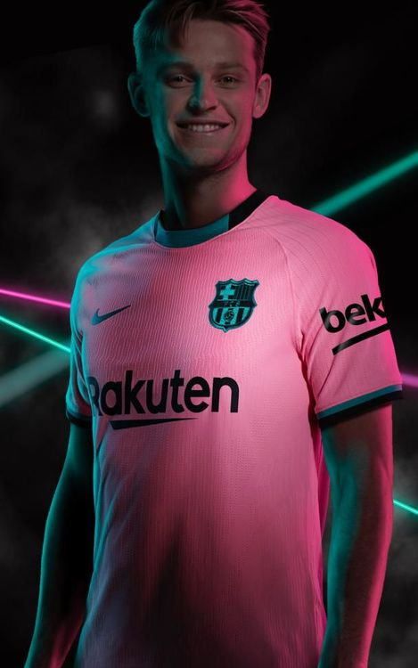 Barca Opts For Pink And Green Third Kit