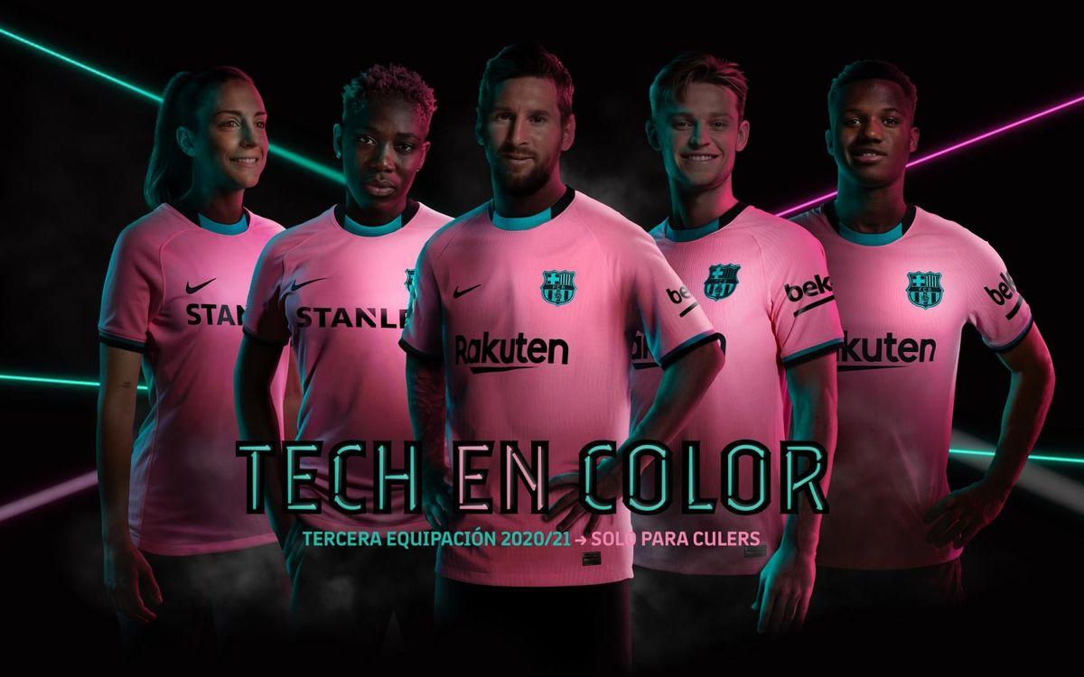 El Barça apuesta por el rosa y el verde en su tercera equipación