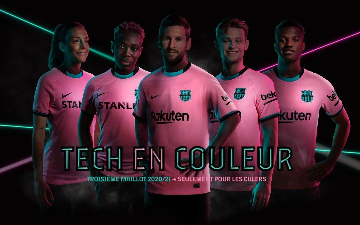 Le Barça opte pour le rose et le vert pour sa troisième tenue