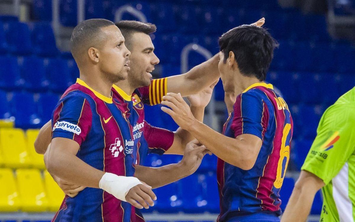 Barça 3-2 Palma Futsal: First test passed