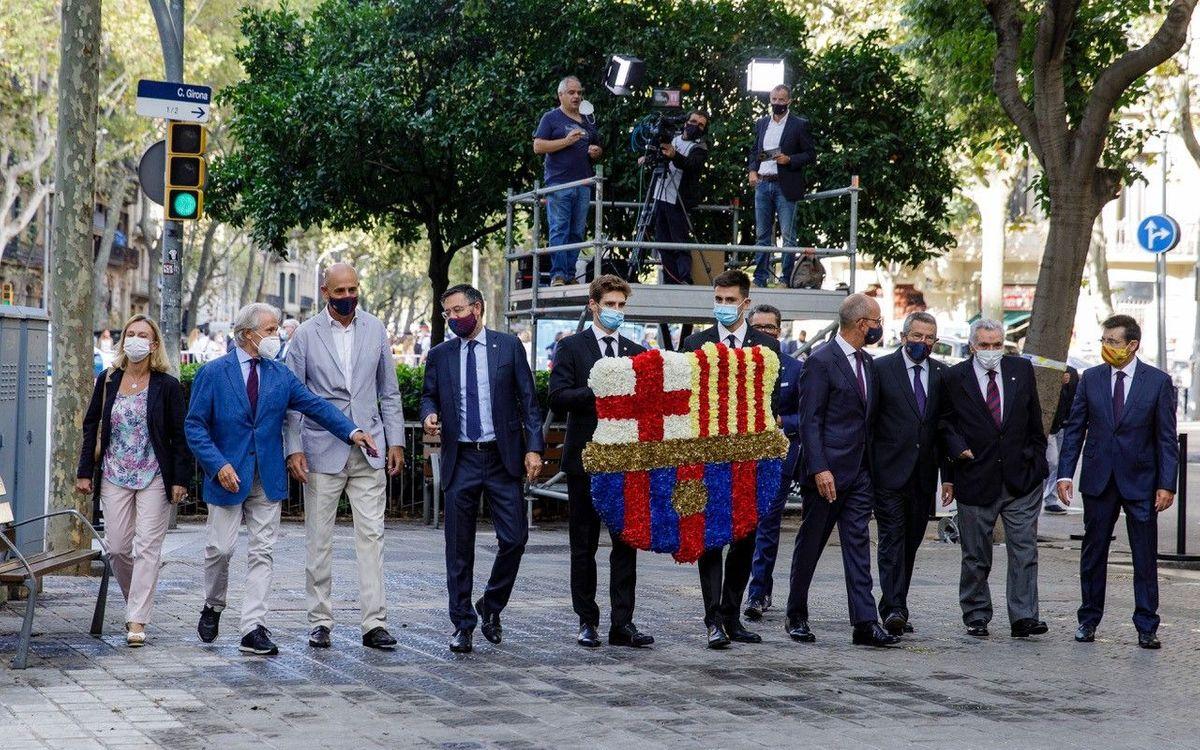 Ofrenda Floral de la Diada de Catalunya 2020.
