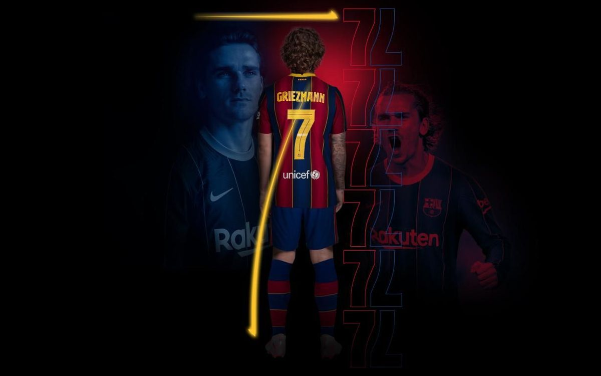 Griezmann to take on the FC Barcelona no.7 shirt