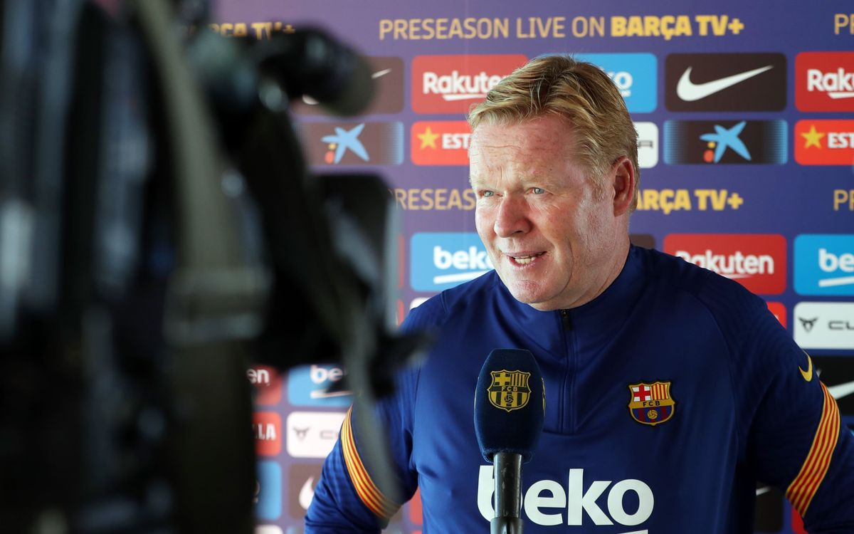 Koeman: 'I'm very happy with the work the team are doing'