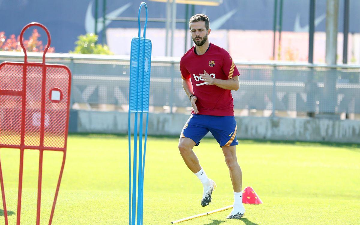 Pjanic and Todibo resume training