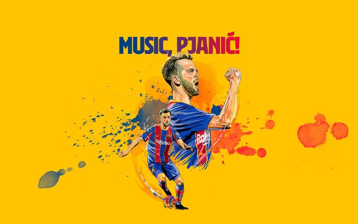 La presentación de Pjanic, este martes