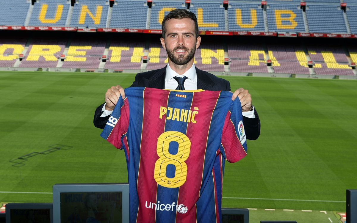 Pjanic to wear number 8