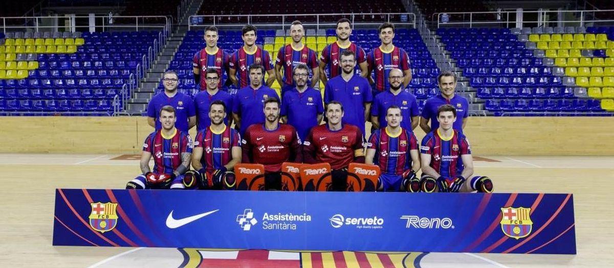 El Barça d'hoquei es fa la fotografia d'equip!