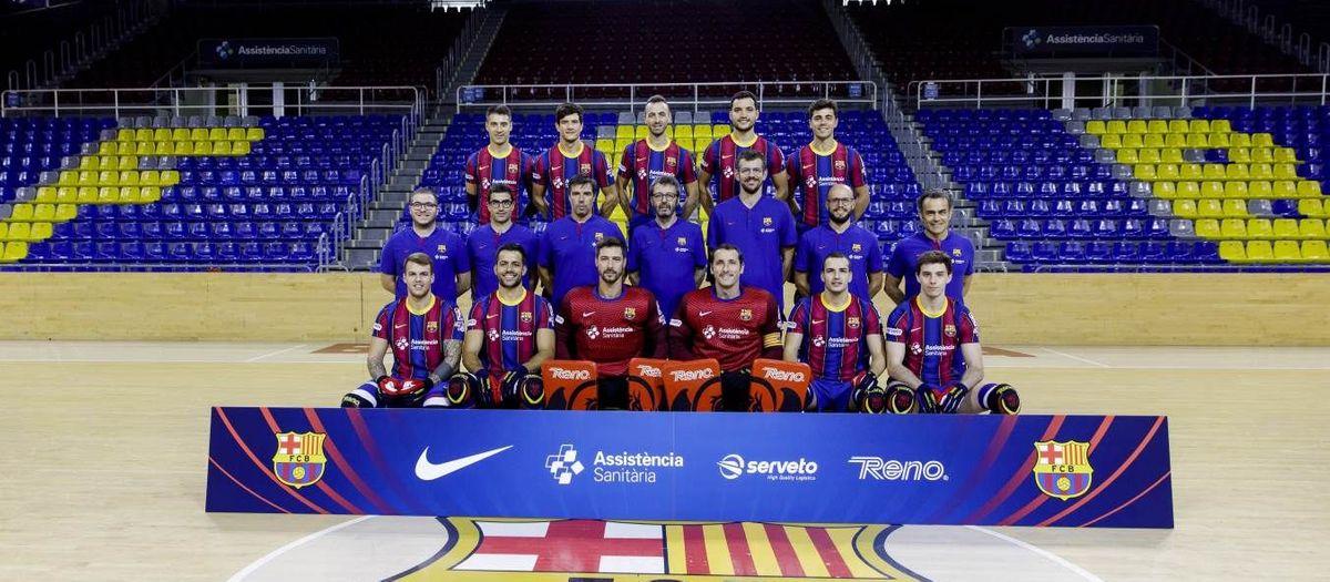 ¡El Barça de hockey se hace la fotografía de equipo!