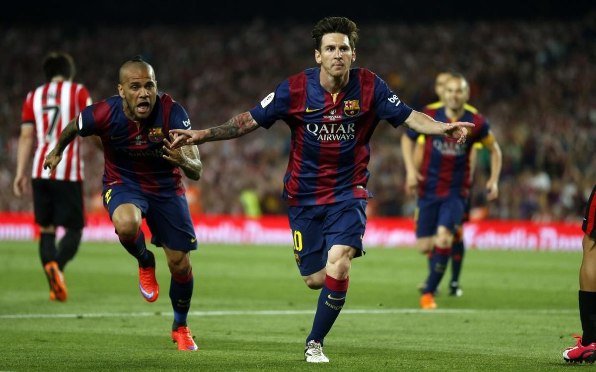 Messi's goal against Athletic Club in 2015 that was a candidate for the Puskas Award.