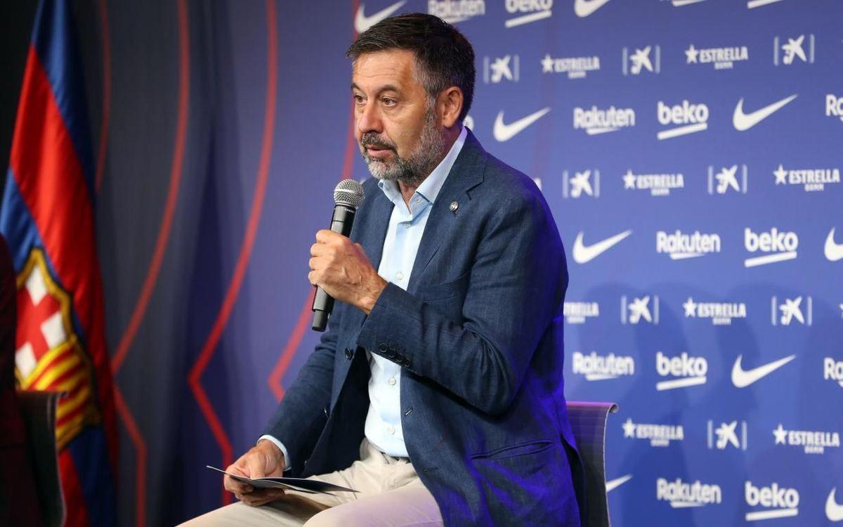 Bartomeu: 'Despite the vote of censure, the club will keep going'