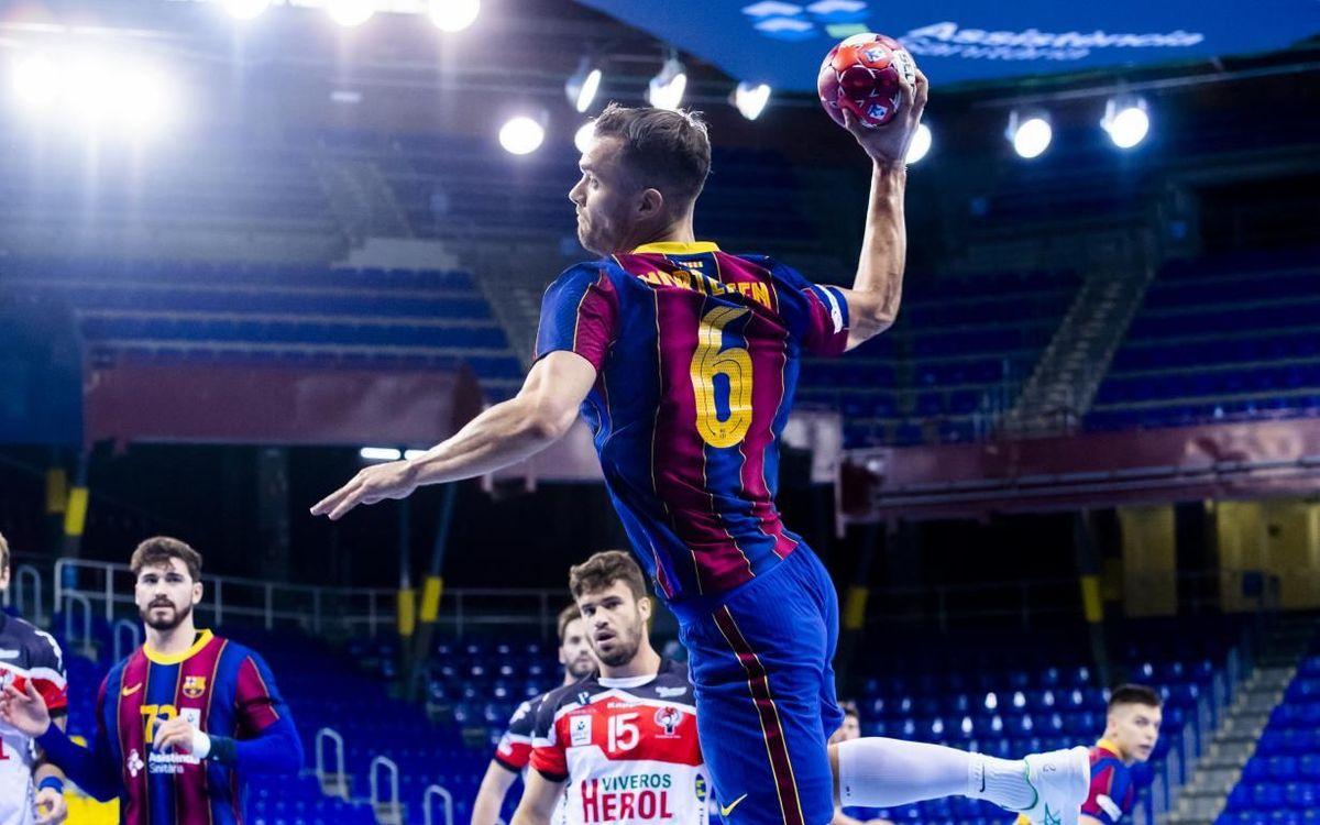 Barça - Viveros Heroles BM Nava: Debut con victoria en el Palau (39-22)
