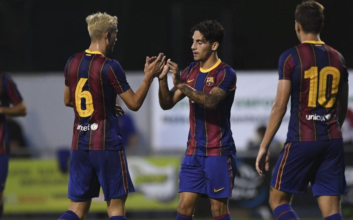 CF Peralada - Barça B: Siguen creciendo (1-4)