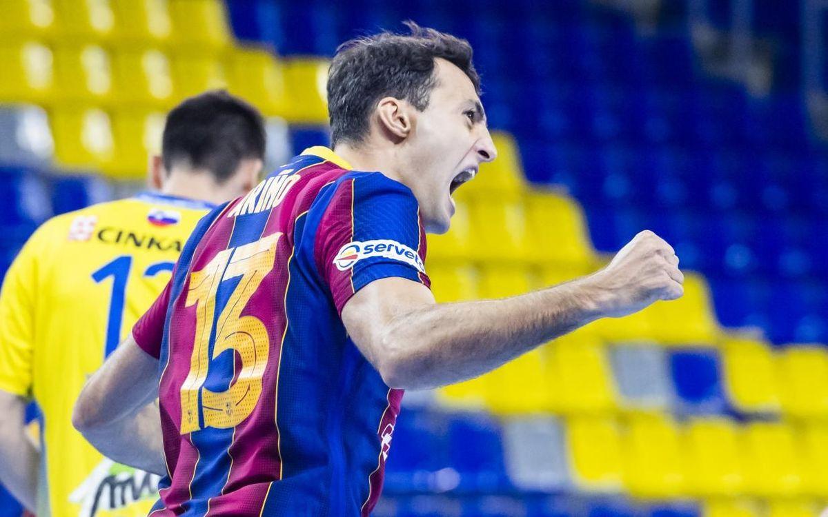 FC Barcelona beat Celje Pivovarna Lasko 42-28 at the Palau