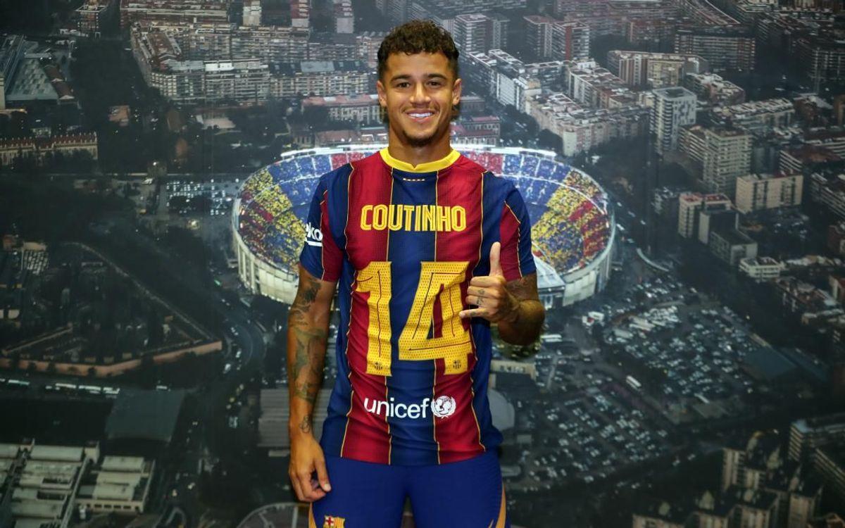 Coutinho, nouveau numéro 14 du Barça