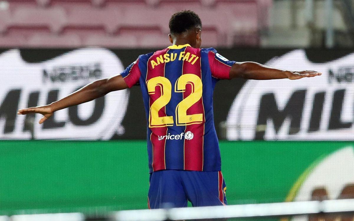 Ansu, el menor de edad con más goles en la historia de la Liga