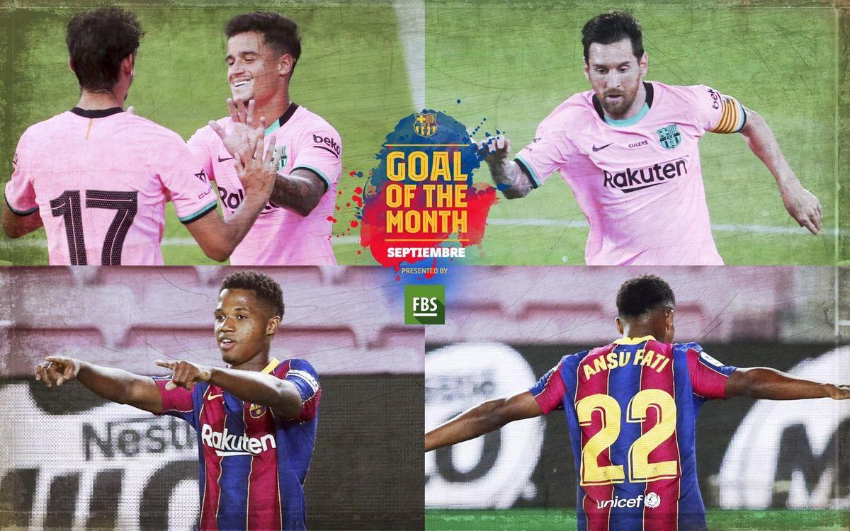 Vota por el 'Goal of the Month' del mes de septiembre