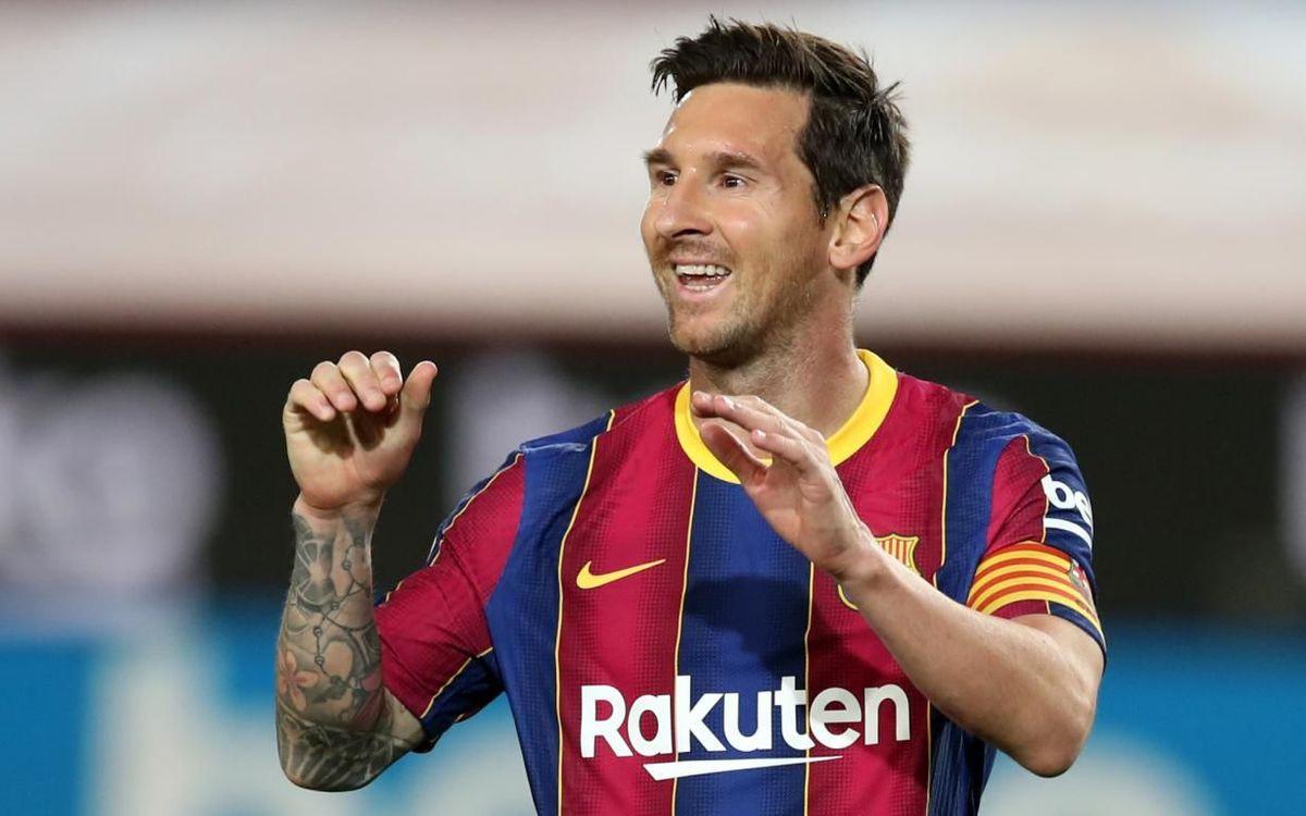 Leo Messi, galardonado con el Premio Valores de 2020