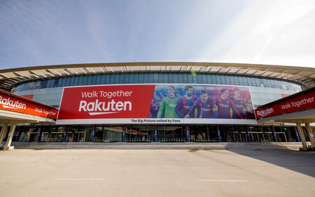 Barça and Rakuten unveil new mosaic created with photos of fans from around the world to decorate the Camp Nou facade