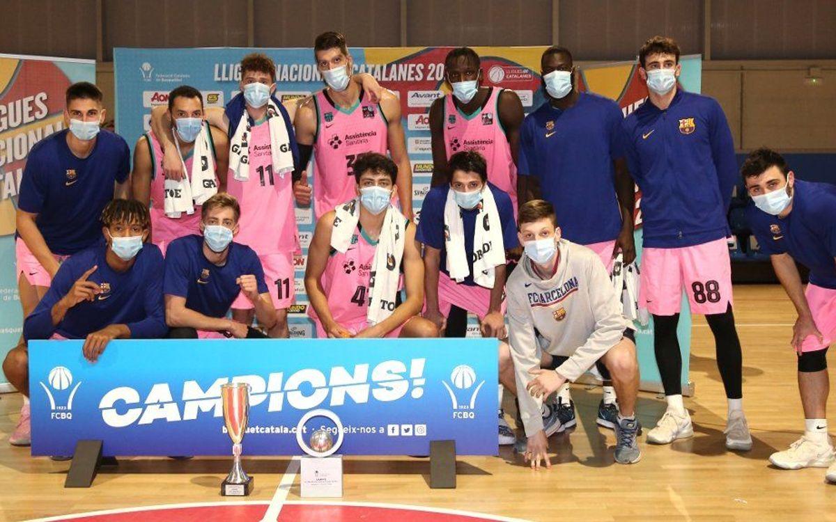 Barça B – CB Prat (78-57): Campeones de la Lliga Catalana LEB Plata