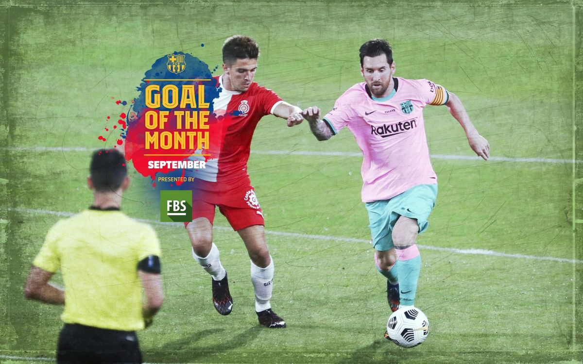 Messi wins September Goal of the Month for goal against Girona
