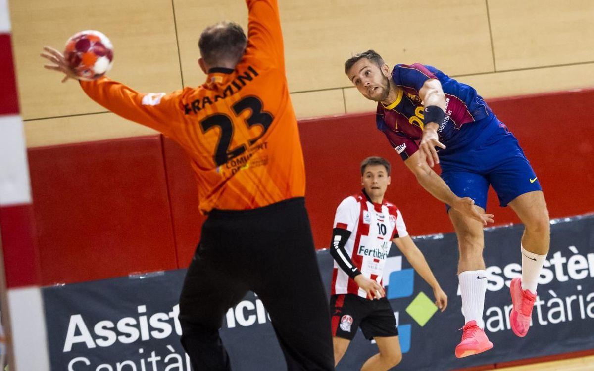 Barça 43-25FertiberiaPort Sagunt: Goalfest at home