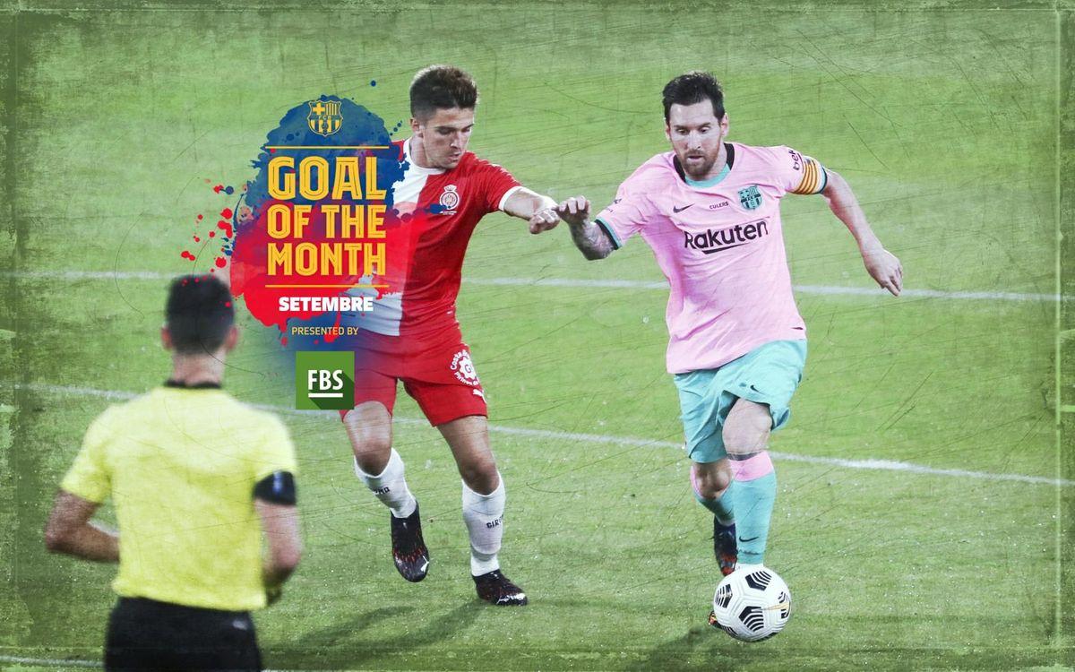 El gol de Messi contra el Girona, guanyador del 'Goal of the Month' del setembre