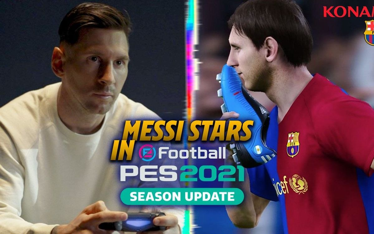 Leo Messi, protagonista del eFootball PES 2021 del FC Barcelona