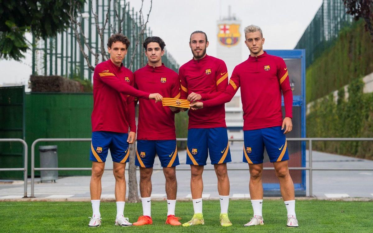 Los cuatro capitanes del Barça B