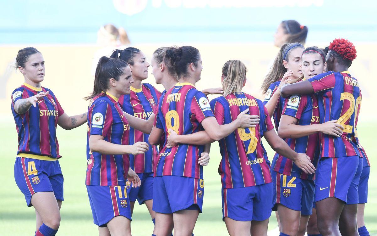 El Barça Femení rebrà demà el trofeu de Campiones de Lliga 19/20