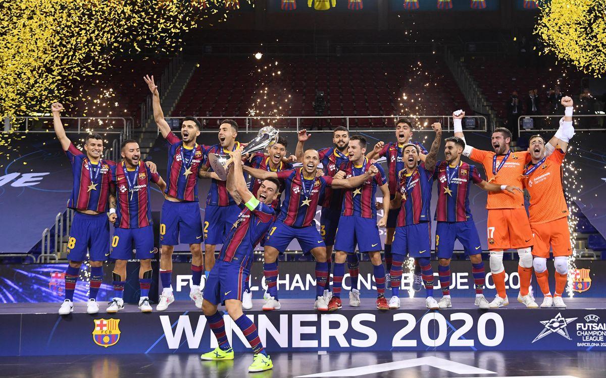 El Barça de fútbol sala conquista la tercera Champions
