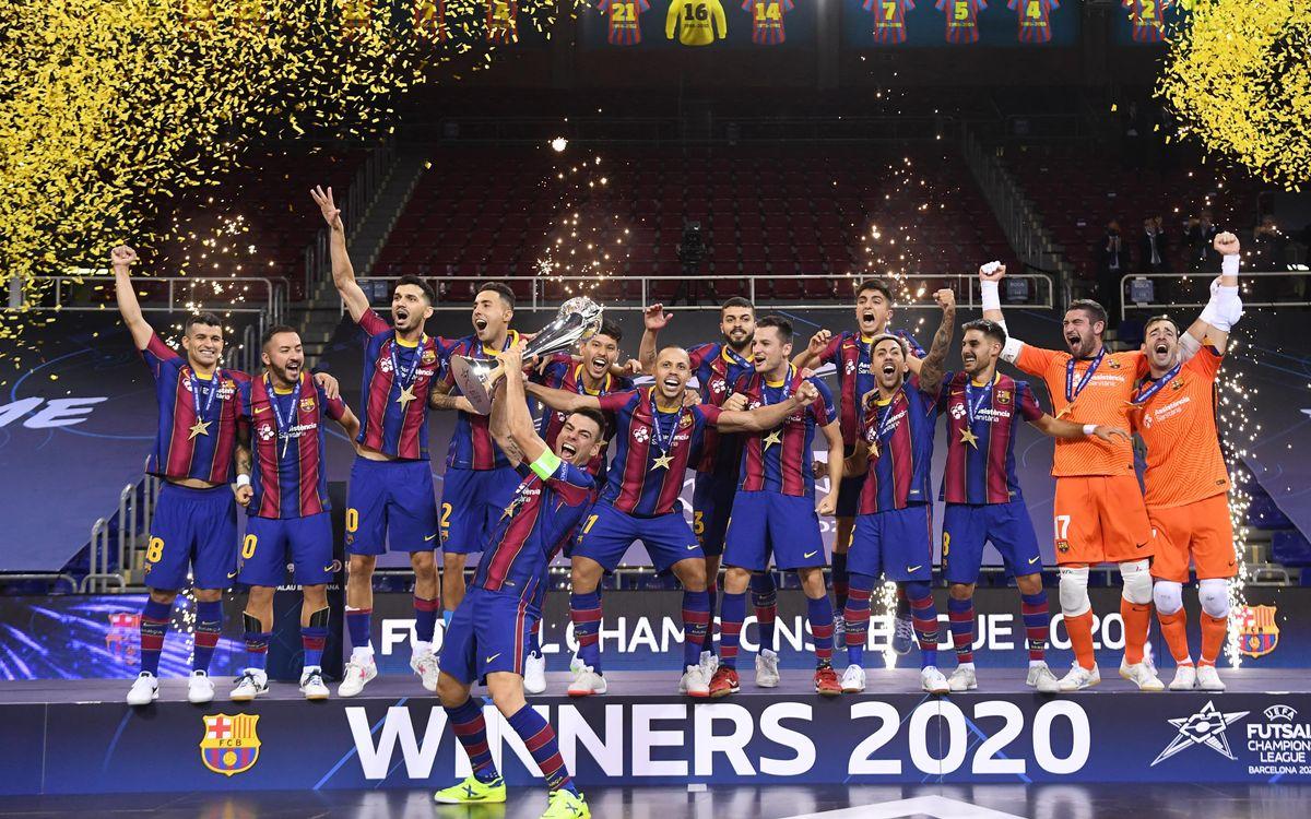 Barça's futsal team win their third Champions League