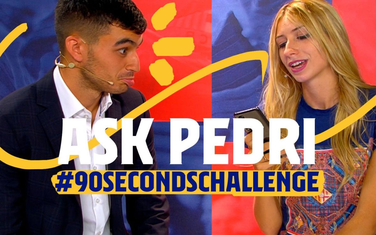 Pedri relève le défi des 90 secondes
