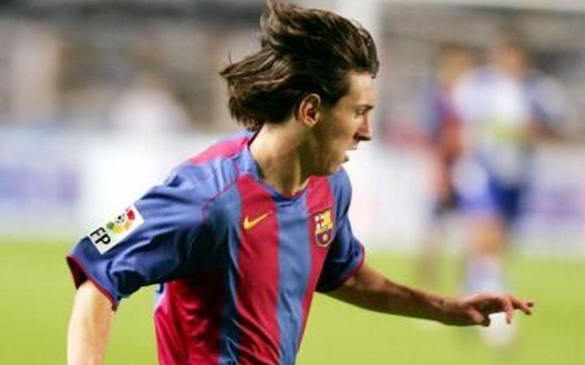 16 anys del primer partit oficial de Messi amb el Barça