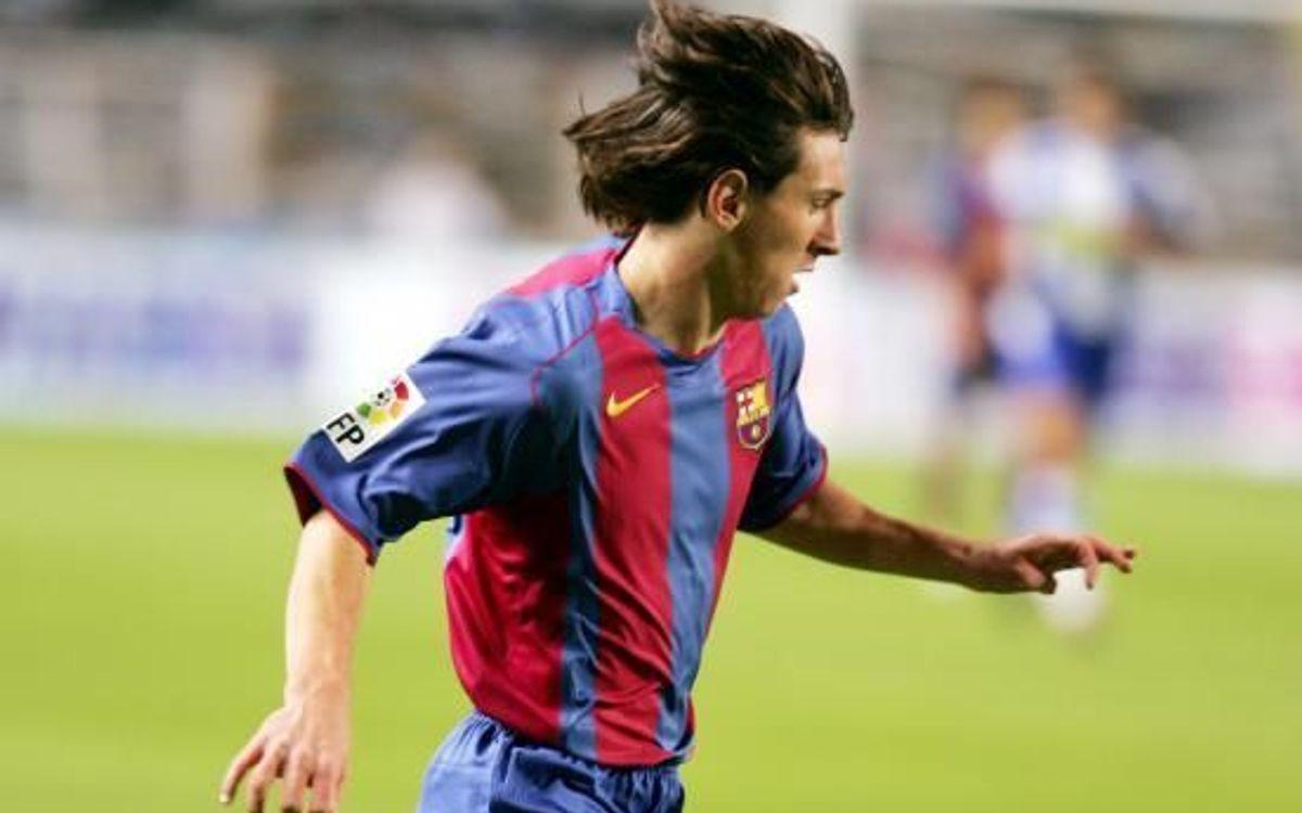 16 años del debut oficial de Messi con el Barça